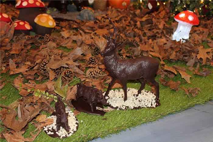 Cerf et Sanglier en Chocolat - Saint Maur 2014