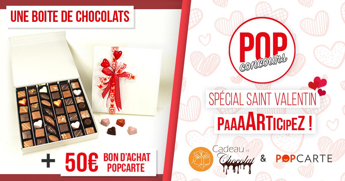 Concours Facebook boites de chocolats et bon cadeau à gagner !