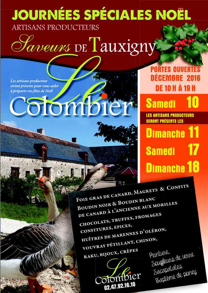 Affiche Marché Noel du Colombier