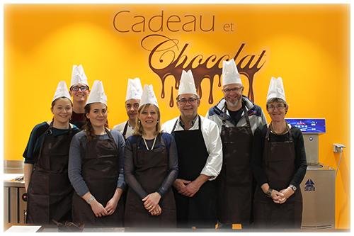 Team building chocolat