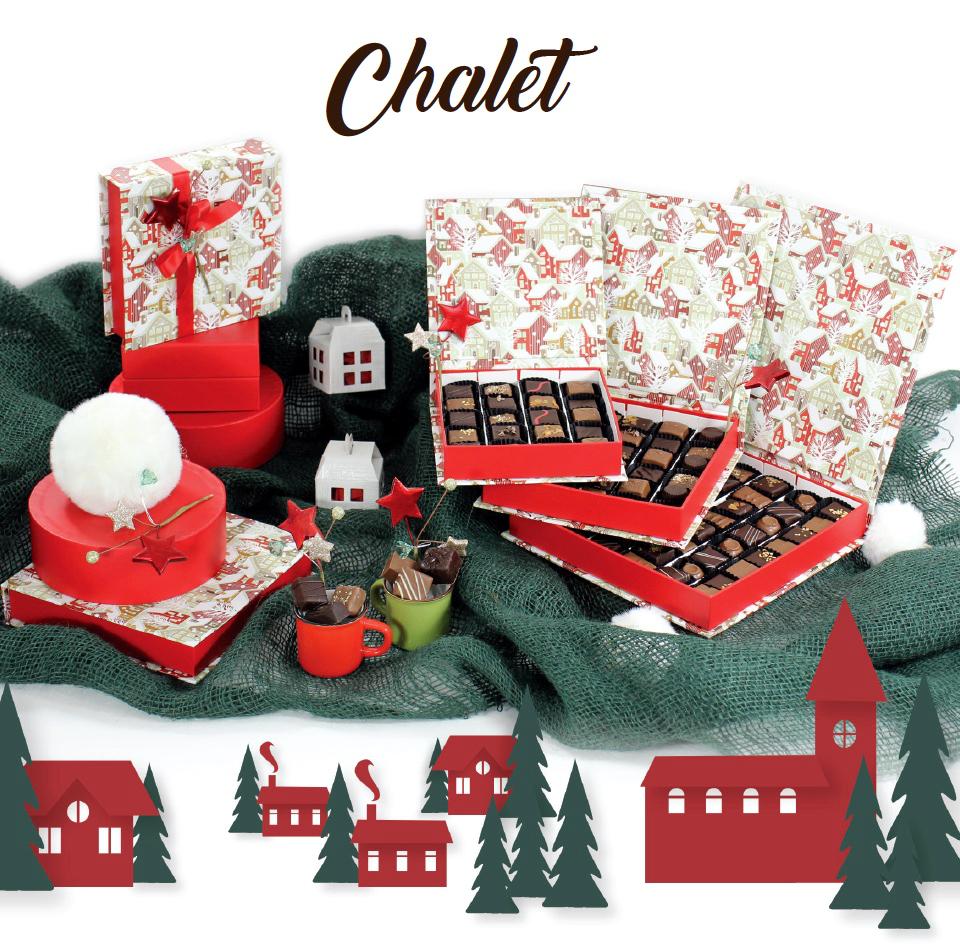 Collection Chalet - Boites de chocolats pour cadeaux d'affaire entreprise - Cadeau et Chocolat.com