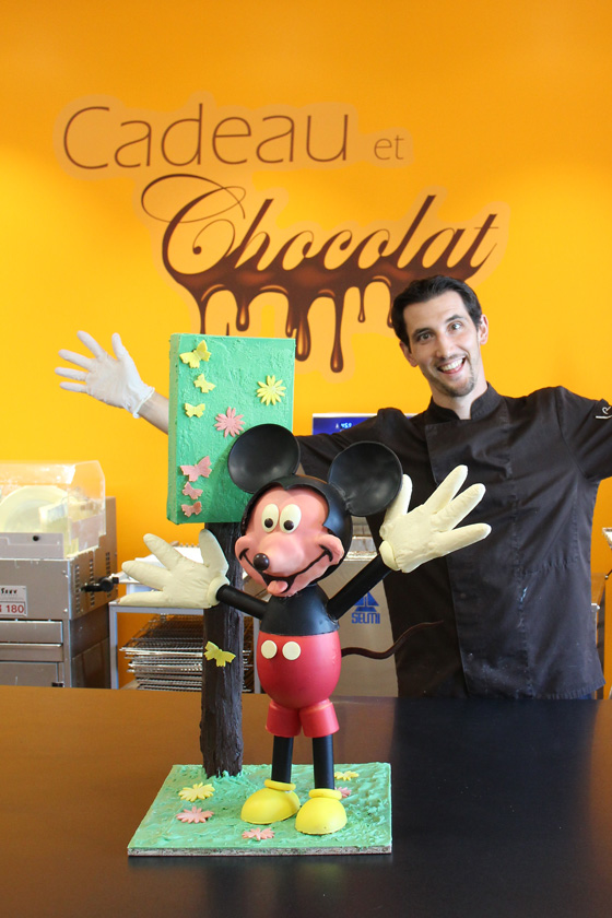 Création Mickey à la chocolaterie de Manthelan