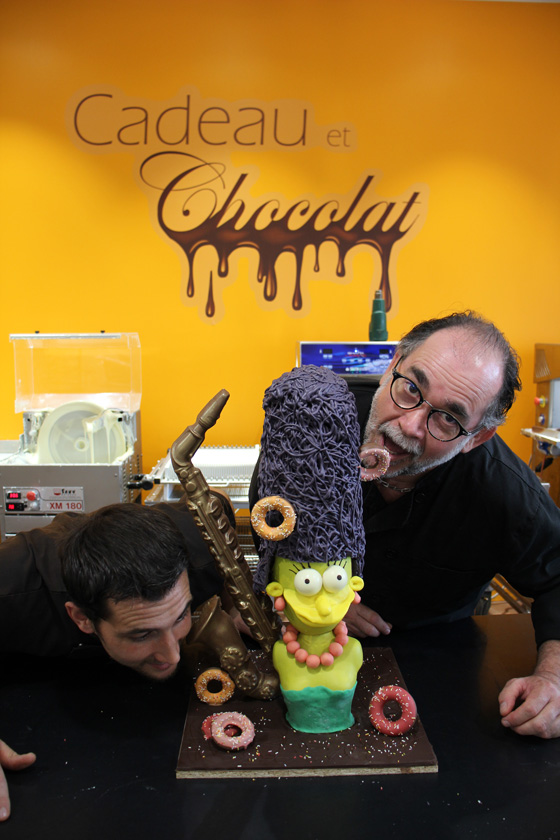 Création Simpson à la chocolaterie de Manthelan